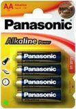 Батарейка Panasonic 1шт Alkaline Power LR 6 *4BL (48*240) 0223 (6)